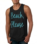Beach, Please.  Men's Tank Top